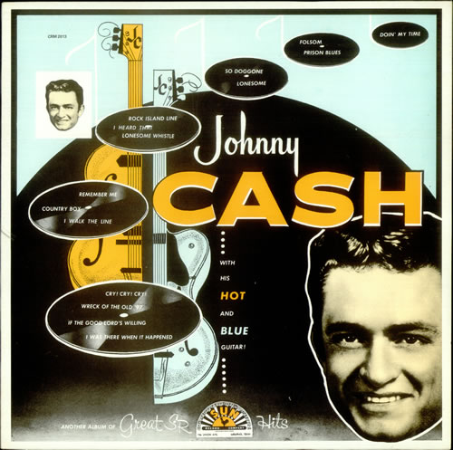 Johnny Cash With His Hot And Blue Guitar vinyl LP album (LP record) French JCSLPWI534425