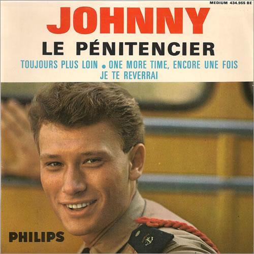 """Johnny Hallyday Le Pénitencier EP 7"""" vinyl single (7 inch record) French JHD07LE488074"""