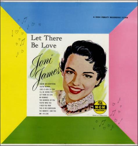 Joni James Let There Be Love vinyl LP album (LP record) US JJ1LPLE377545