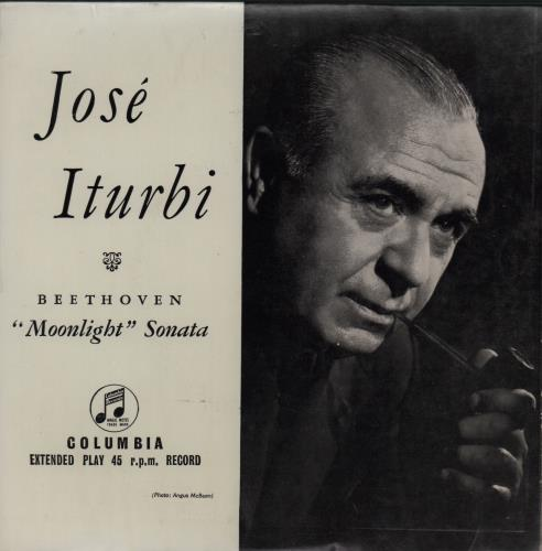"José Iturbi Moonlight Sonata 7"" vinyl single (7 inch record) UK K5V07MO668595"
