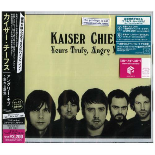 Kaiser Chiefs Yours Truly, Angry Mob CD album (CDLP) Japanese KAZCDYO385039
