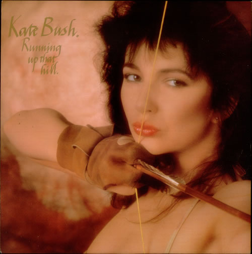 "Kate Bush Running Up That Hill - Gold Lettering 12"" vinyl single (12 inch record / Maxi-single) UK BUS12RU18241"