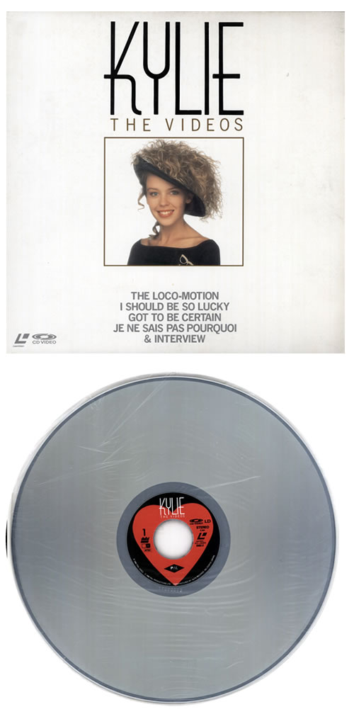Kylie Minogue The Videos laserdisc / lazerdisc Japanese KYLLZTH176113