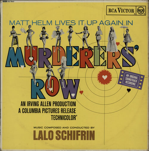 Lalo Schifrin Murderers' Row - EX vinyl LP album (LP record) UK LALLPMU584528