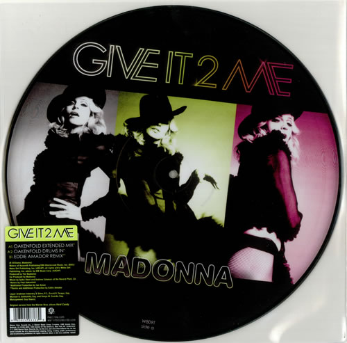 """Madonna Give It 2 Me 12"""" vinyl picture disc 12inch picture disc record UK MAD2PGI436573"""