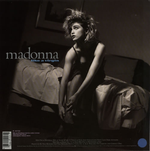 Madonna Like A Virgin - RCA Record Club vinyl LP album (LP record) US MADLPLI598802