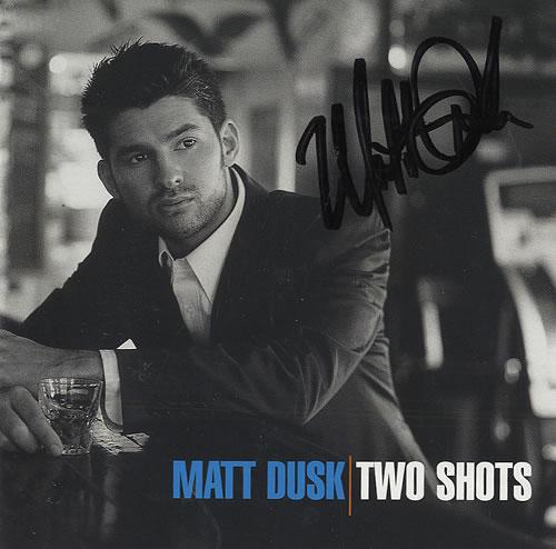 Matt Dusk Two Shots - Autographed CD album (CDLP) US DU3CDTW437127