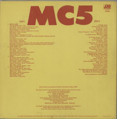 MC5 High Time vinyl LP album (LP record) US MC5LPHI666863