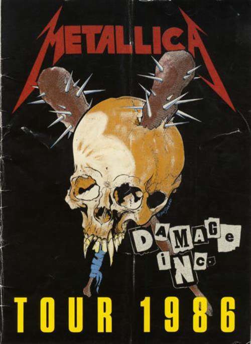 Metallica Damage Inc Tour 1986 + Ticket tour programme UK METTRDA557400