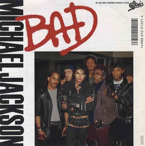 "Michael Jackson Bad 7"" vinyl single (7 inch record) Japanese M-J07BA343244"