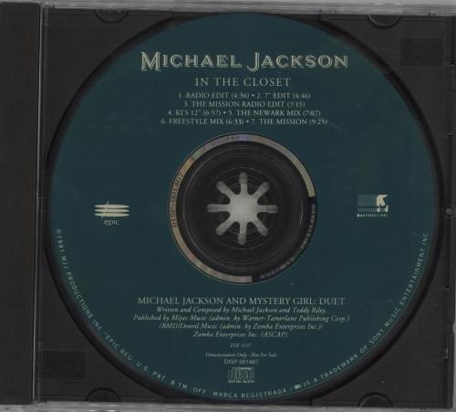 "Michael Jackson In The Closet - Green CD single (CD5 / 5"") US M-JC5IN06834"
