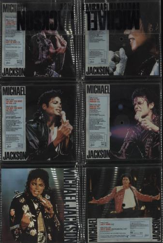 Michael Jackson Souvenir Singles Pack shaped picture disc (picture disc vinyl record) UK M-JSHSO07275