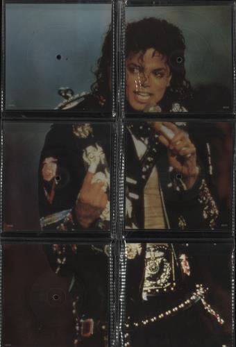 Michael Jackson Souvenir Singles Pack shaped picture disc (picture disc vinyl record) UK M-JSHSO07275