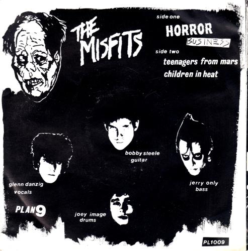 "Misfits Horror Business - Yellow Vinyl - p/s + Inserts 7"" vinyl single (7 inch record) US MFT07HO663305"