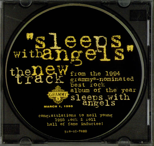 "Neil Young Sleep With Angels - stickered case CD single (CD5 / 5"") US YOUC5SL314221"