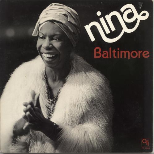 Nina Simone Baltimore vinyl LP album (LP record) US NNSLPBA434552