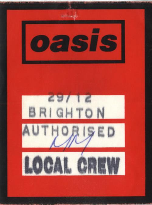 Oasis 1994 Tour Pass tour pass UK OASTPTO556715