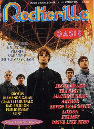 Oasis Rockerilla magazine Italian OASMARO330095