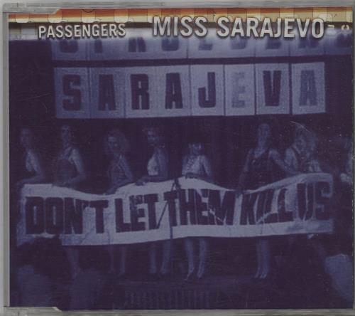 """Passengers Miss Sarajevo CD single (CD5 / 5"""") UK PSSC5MI56212"""