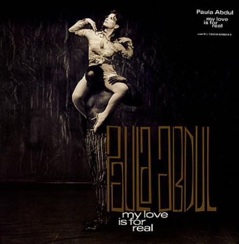 "Paula Abdul My Love Is For Real 12"" vinyl single (12 inch record / Maxi-single) UK ABD12MY187464"