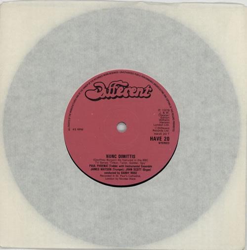 "Paul Phoenix Nunc Dimittis 7"" vinyl single (7 inch record) UK P8U07NU614598"