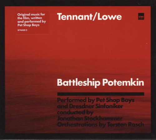 Pet Shop Boys Battleship Potemkin + Slipcase CD album (CDLP) UK PSBCDBA333930