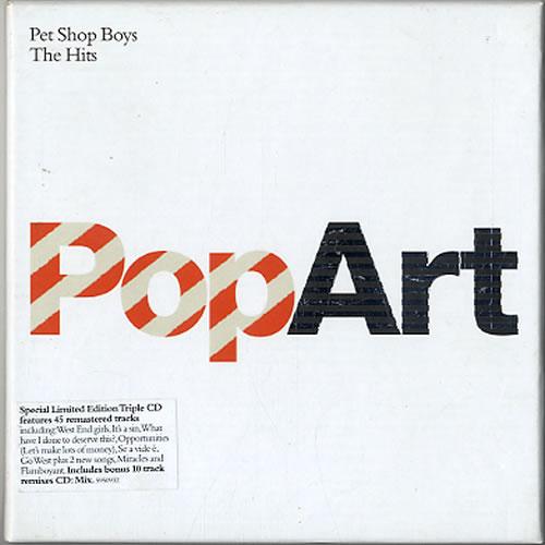 Pet Shop Boys PopArt - The Hits 3-CD album set (Triple CD) UK PSB3CPO264077