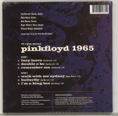 """Pink Floyd 1965 Their First Recordings - Sealed 7"""" vinyl single (7 inch record) UK PIN07TH665689"""