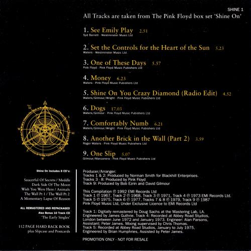 Pink Floyd Selected Tracks From Shine On CD album (CDLP) UK PINCDSE11257
