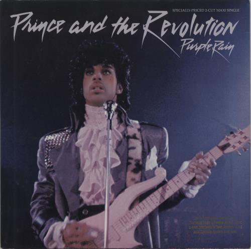 "Prince Purple Rain - Purple Vinyl/Gold Promo Stamp 12"" vinyl single (12 inch record / Maxi-single) US PRI12PU432656"