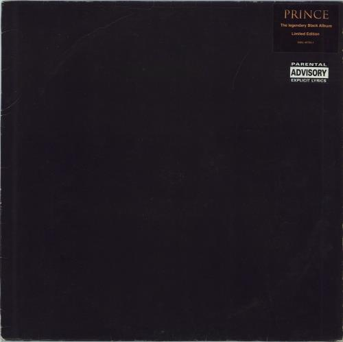 Prince The Black Album - black vinyl vinyl LP album (LP record) German PRILPTH216745
