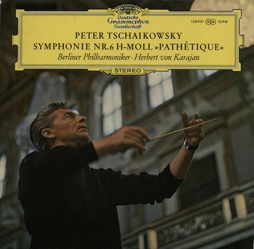 Pyotr Ilyich Tchaikovsky Symphonie Nr. 6 H-Moll, 'Pathetique' vinyl LP album (LP record) German T3NLPSY537164