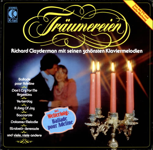 Richard Clayderman Träumereien vinyl LP album (LP record) German RC1LPTR499999
