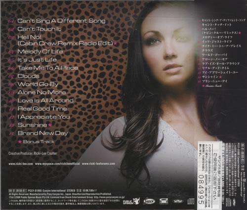 Ricki-Lee Brand New Day CD album (CDLP) Japanese RHZCDBR446160