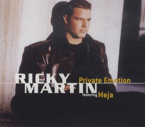 "Ricky Martin Private Emotion CD single (CD5 / 5"") Austrian RKMC5PR154633"