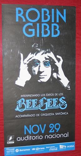 Robin Gibb Auditorio Nacional poster Mexican RGIPOAU348269