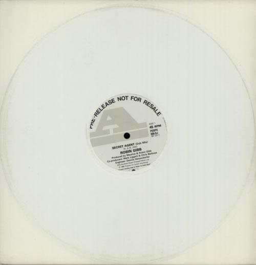 "Robin Gibb Secret Agent 12"" vinyl single (12 inch record / Maxi-single) UK RGI12SE136646"