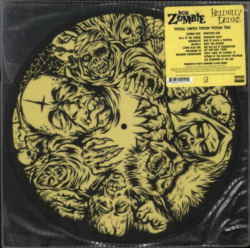 Rob Zombie Hellbilly Deluxe picture disc LP (vinyl picture disc album) US RZBPDHE204593