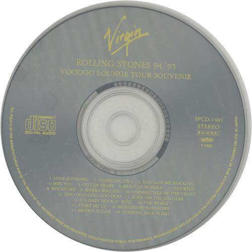 Rolling Stones 94/95 Voodoo Lounge Tour Souvenir CD album (CDLP) Japanese ROLCDVO206730