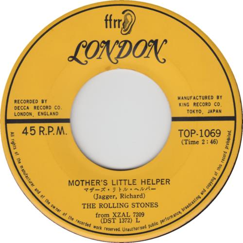 "Rolling Stones Mother's Little Helper 7"" vinyl single (7 inch record) Japanese ROL07MO244816"