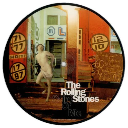 """Rolling Stones Saint Of Me - Number 7 7"""" vinyl picture disc 7 inch picture disc single UK ROL7PSA508353"""