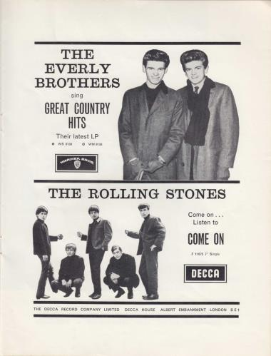 Rolling Stones The Everly Brothers/Bo Diddley/Little Richard Show tour programme UK ROLTRTH138810