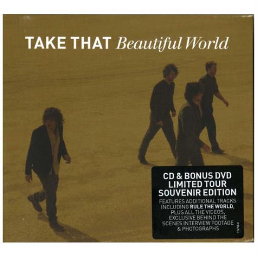 Take That Beautiful World - Tour Souvenir Edition 2-disc CD/DVD set UK TAK2DBE418339
