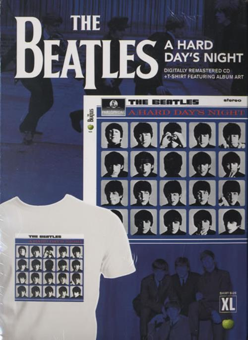 The Beatles A Hard Day's Night + T-Shirt CD album (CDLP) US BTLCDAH491057