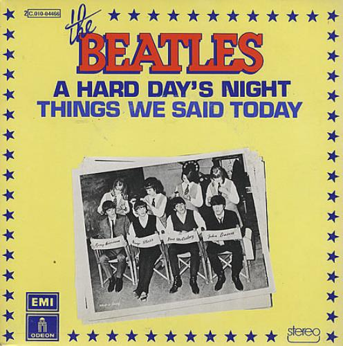 "The Beatles A Hard Day's Night - 1976 Issue 7"" vinyl single (7 inch record) French BTL07AH396300"
