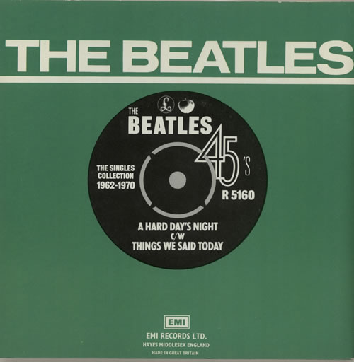"The Beatles A Hard Day's Night - 1976 Issue 7"" vinyl single (7 inch record) UK BTL07AH574700"