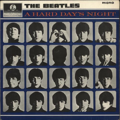 The Beatles A Hard Day's Night - 1st - EJD - EX vinyl LP album (LP record) UK BTLLPAH598542