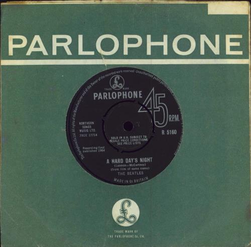 "The Beatles A Hard Day's Night - 1st 7"" vinyl single (7 inch record) UK BTL07AH443974"