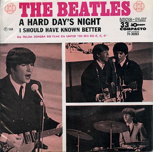 "The Beatles A Hard Day's Night 7"" vinyl single (7 inch record) Brazilian BTL07AH290363"