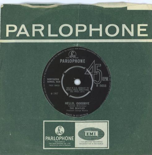 "The Beatles Hello, Goodbye - 1st - EX 7"" vinyl single (7 inch record) UK BTL07HE553763"